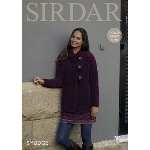 Sirdar Smudge Patterns - 7871 Jacket Pattern