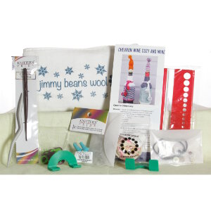 Jimmy Beans Wool Beanie Bags Accessories - Little Beanie Bag Notions Sampler - Snowflakes