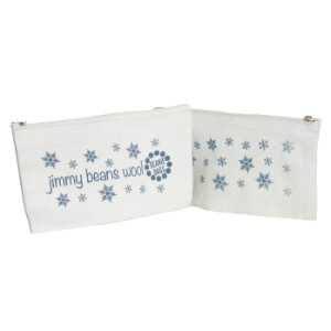 Jimmy Beans Wool Beanie Bags Accessories - Canvas Zippered Pouch - Snowflakes