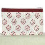Knitter's Pride Hand Block Printed Fabric bags  - Amber - Red - Large