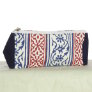 Knitter's Pride Hand Block Printed Fabric bags - Grace - Blue/Red Panels - Small (1)