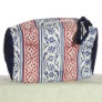 Knitter's Pride Hand Block Printed Fabric bags - Joy - Blue/Red Panels - Small (1)