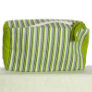 Knitter's Pride Hand Block Printed Fabric bags - Joy - Green Stripe - Large (1)