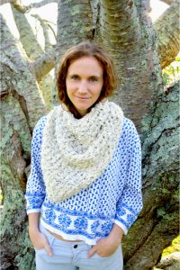 Knit Collage Patterns - Bandana Cowl - PDF DOWNLOAD photo