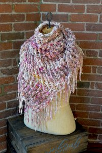 Knit Collage Patterns - Cozy Cast Away Wrap - PDF DOWNLOAD photo