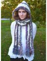 Knit Collage Patterns - Hoodie Scarf - PDF DOWNLOAD