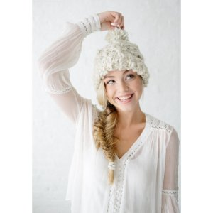 Knit Collage Patterns - Snow Bunny Cable Hat - PDF DOWNLOAD photo