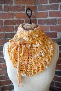 Knit Collage Patterns - Daisy Chain Bandana Cowl - PDF DOWNLOAD Pattern