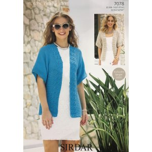 Sirdar Cotton DK Patterns - 7078 Jacket Pattern