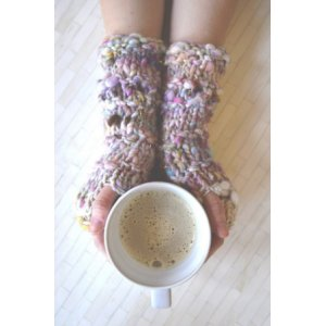 Knit Collage Patterns - Stevie Fingerless Gloves - PDF DOWNLOAD Pattern