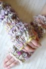 Knit Collage Patterns - Stevie Fingerless Gloves - PDF DOWNLOAD