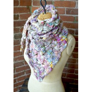 Knit Collage Patterns - Swirly Shawl - PDF DOWNLOAD Pattern