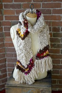 Knit Collage Patterns - Chevron Striped Scarf - PDF DOWNLOAD