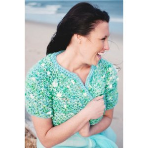 Knit Collage Patterns - Mermaid Cafe Cardi - PDF DOWNLOAD Pattern