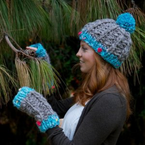 Knit Collage Patterns - Winter Wonderland Hat and Glove Set - PDF DOWNLOAD Pattern