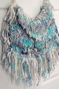 Knit Collage Patterns - Boho Fringe Bag - PDF DOWNLOAD Pattern
