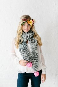 Knit Collage Patterns - Bright Spot Scarf - PDF DOWNLOAD