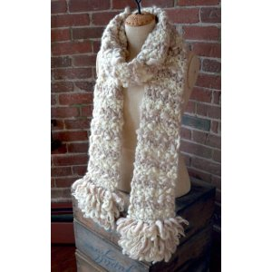 Knit Collage Patterns - Loopy Fringe Scarf - PDF DOWNLOAD Pattern