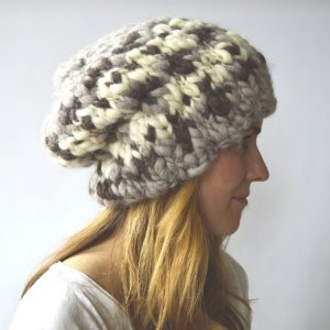 Knit Collage Patterns - Mountain Girl Beanie - PDF DOWNLOAD Pattern