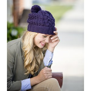 Universal Yarns Deluxe Cable Collection Patterns - Cold Mountain Hat - PDF DOWNLOAD Pattern