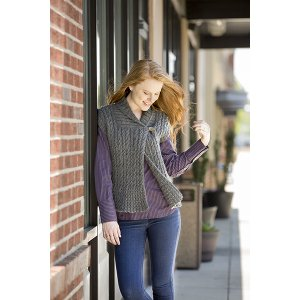 Universal Yarns Deluxe Cable Collection Patterns - Eastover Vest - PDF DOWNLOAD Pattern