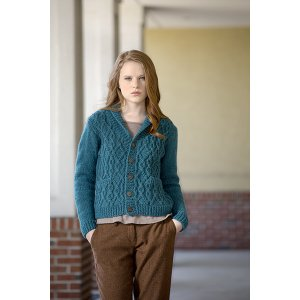 Universal Yarns Deluxe Cable Collection Patterns - Tallulah Cardigan - PDF DOWNLOAD Pattern