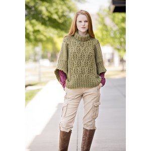 Universal Yarns Deluxe Cable Collection Patterns - Catawba River Poncho - PDF DOWNLOAD Pattern