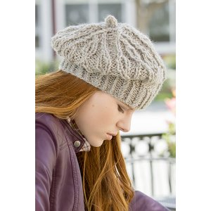 Universal Yarns Deluxe Cable Collection Patterns - Rutherford Beret - PDF DOWNLOAD Pattern