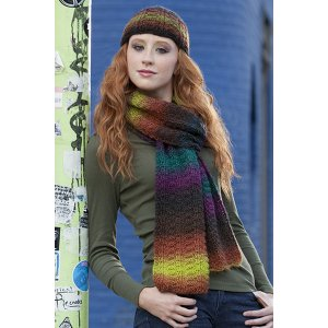Universal Yarns Patterns - Classic Shades Book 2: City Neighborhoods Collection Patterns - Parallel Ridges Hat & Scarf - PDF DOWNLOAD