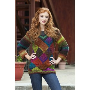 Universal Yarns Patterns - Classic Shades Book 2: City Neighborhoods Collection Patterns - Refracted Light Pullover - PDF DOWNLOAD