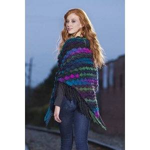 Universal Yarns Patterns - Classic Shades Book 2: City Neighborhoods Collection Patterns - Seashell Wrap - PDF DOWNLOAD