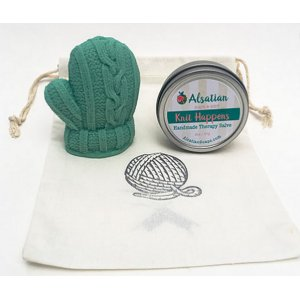 Alsatian Soaps & Bath Products - Knitter's Hands Gift Bag