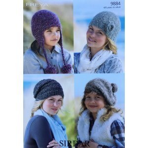 Sirdar Freya Collection Patterns - 9884 - Hats Pattern