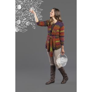 Universal Yarns Classic Shades Book 3: Color Your World Collection Patterns - Entrelac Jacket - PDF DOWNLOAD Pattern