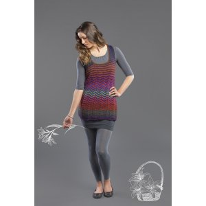 Universal Yarns Classic Shades Book 3: Color Your World Collection Patterns - Pique My Interest Tunic - PDF DOWNLOAD Pattern
