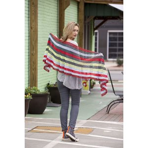 Universal Yarns Contrarian Shawls: Book 2 Patterns - Kaleidostripe - PDF DOWNLOAD Pattern