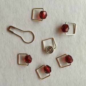 Spark Exclusive JBW Stitch Markers - '17 February - Garnet