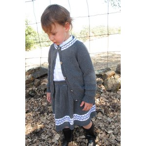 Knitting Pure and Simple Baby & Children Patterns - 1607 - Child's Skirt and Cardigan Set Pattern