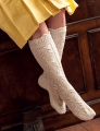 Lotus Tibetan Cloud Fingering Lace Stockings