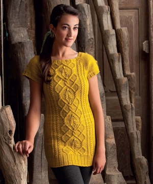 Malabrigo Worsted Merino Cabled Tunic Kit - Women's Pullovers