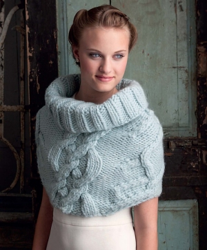 Blue Sky Fibers Bulky Cabled Cowl Kit - Scarf and Shawls