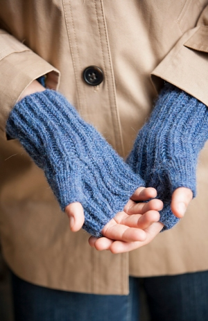Berroco Ultra Alpaca Brioche Fingerless Gloves Kit - Hats and Gloves