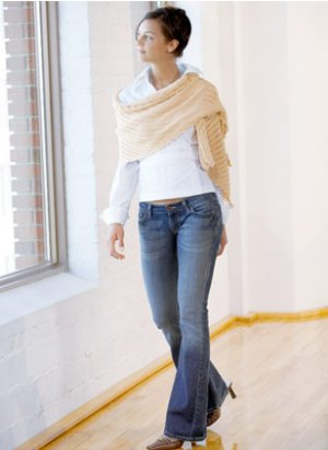 Blue Sky Fibers Scarf, Shawl, and Wrap Patterns - Rectangle Shawl Pattern