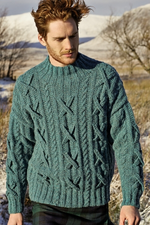 Rowan Felted Tweed Aran Fergus Pullover Kit - Mens Sweaters