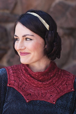 Shibui Knits Pebble Snowdrop and Rose Red Cowl Kit - Scarf and Shawls