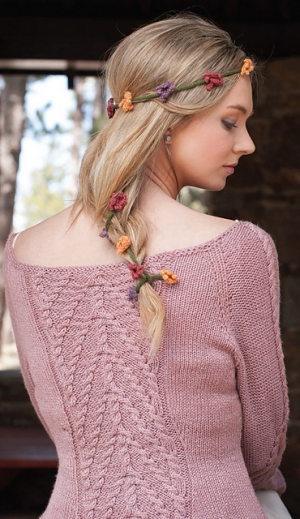 Rowan Pure Wool 4 Ply String of Flowers Circlet Kit - Women's Accessories