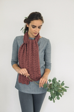 Rowan Softknit Cotton Chevron Scarf Kit - Crochet for Adults