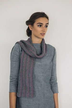 Rowan Handknit Cotton Striped Scarf Kit - Crochet for Adults
