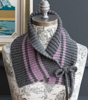 Cascade Venezia Sport Ribbed Shawl-Collar Cowl Kit - Scarf and Shawls