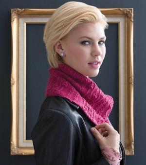 Cascade Venezia Sport Mock Cable & Bell Cowl Kit - Scarf and Shawls
